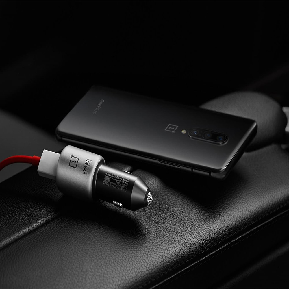 Oneplus Warp Fast Car Charger 30W & Type-C Cable for Oneplus 8 Pro Nord 7 7T 6T 5 Black - 7