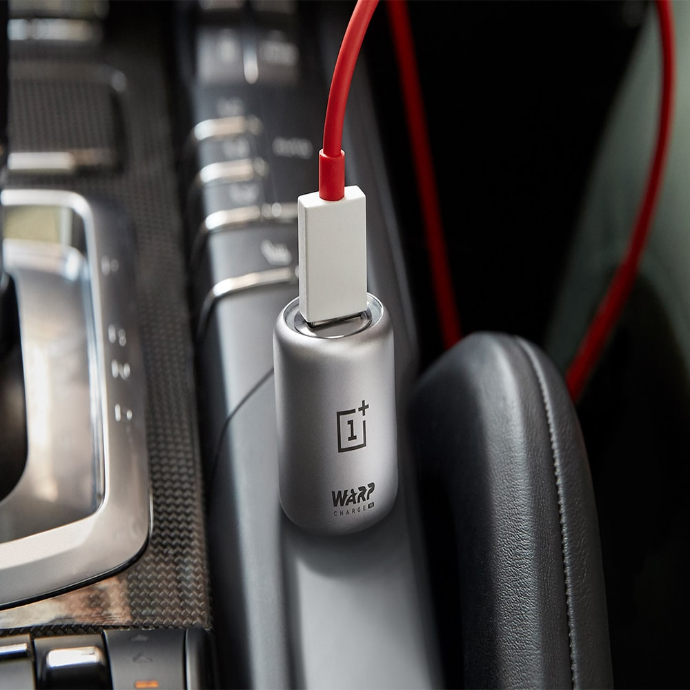 Oneplus Warp Fast Car Charger 30W & Type-C Cable for Oneplus 8 Pro Nord 7 7T 6T 5 Black - 6