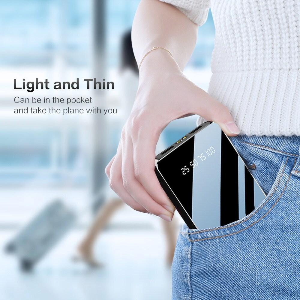Power Bank 20000mAh Dual USB LED Display Flash Light - 2