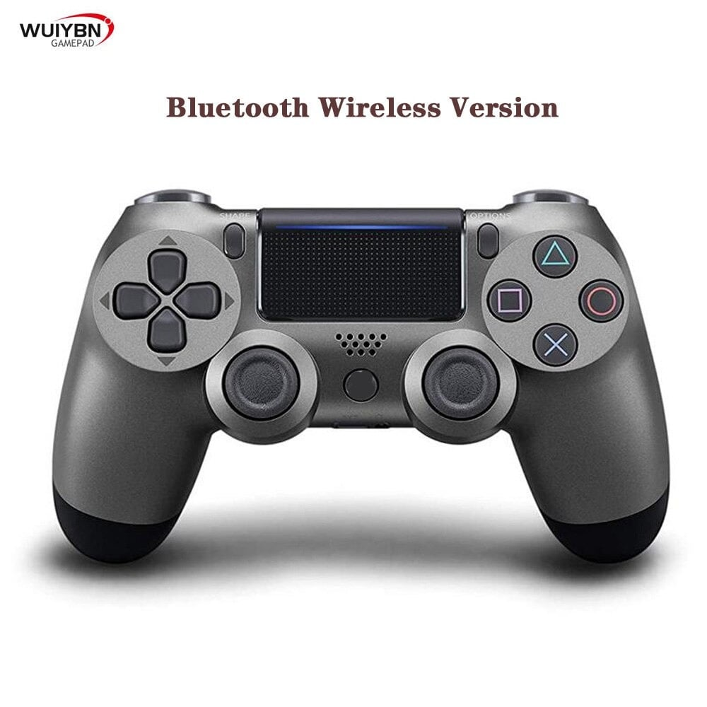 PS4 Controller Bluetooth Gamepad For DualShock 4 Wireless Controller FOR SONY PlayStation Pro/Slim/PC/Android/IOS/iPad Grey - 1