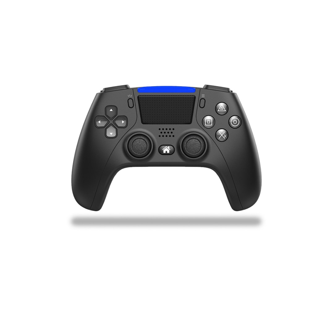 PS4 Controller Bluetooth Wireless Game Console 6-axis Double Shock Vibration Gamepad For PC /Android Phone Joysticks  Black - 1