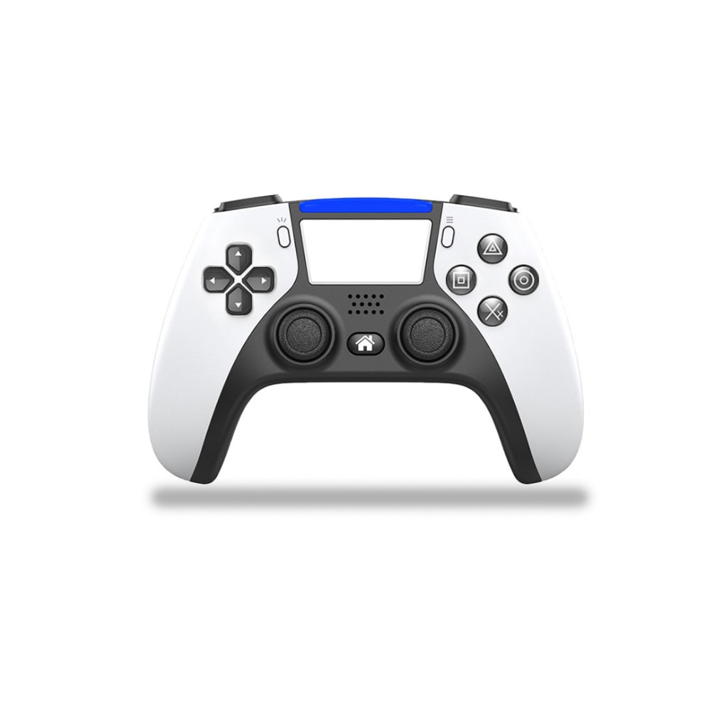 PS4 Controller Bluetooth Wireless Game Console 6-axis Double Shock Vibration Gamepad For PC /Android Phone Joysticks  White - 1