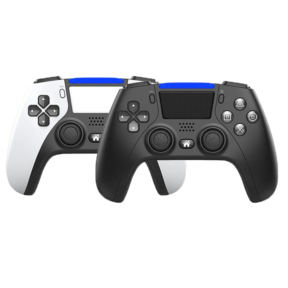 PS4 Controller Bluetooth Wireless Game Console 6-axis Double Shock Vibration Gamepad For PC /Android Phone Joysticks  White - 2