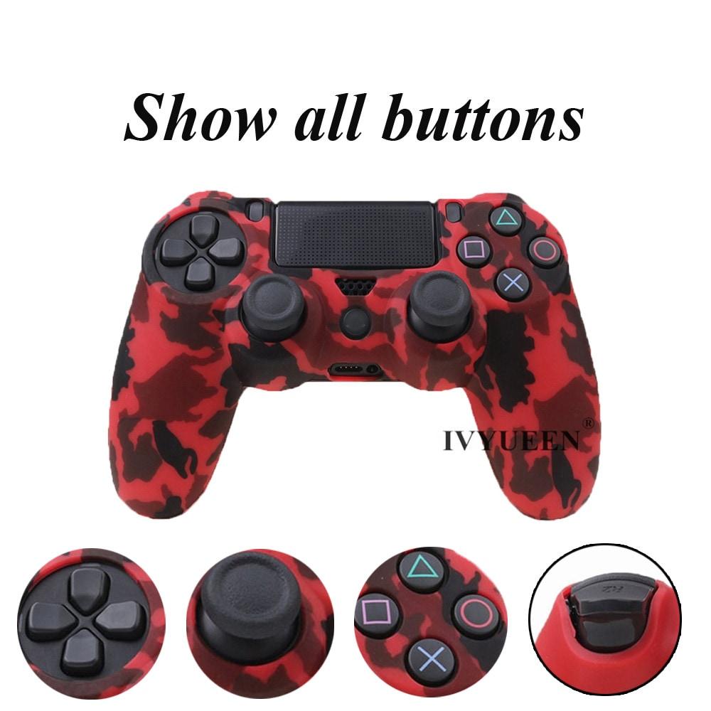 PS4 Controller Silicone Cover plus Thumb Grip Caps - Art Splash - 2