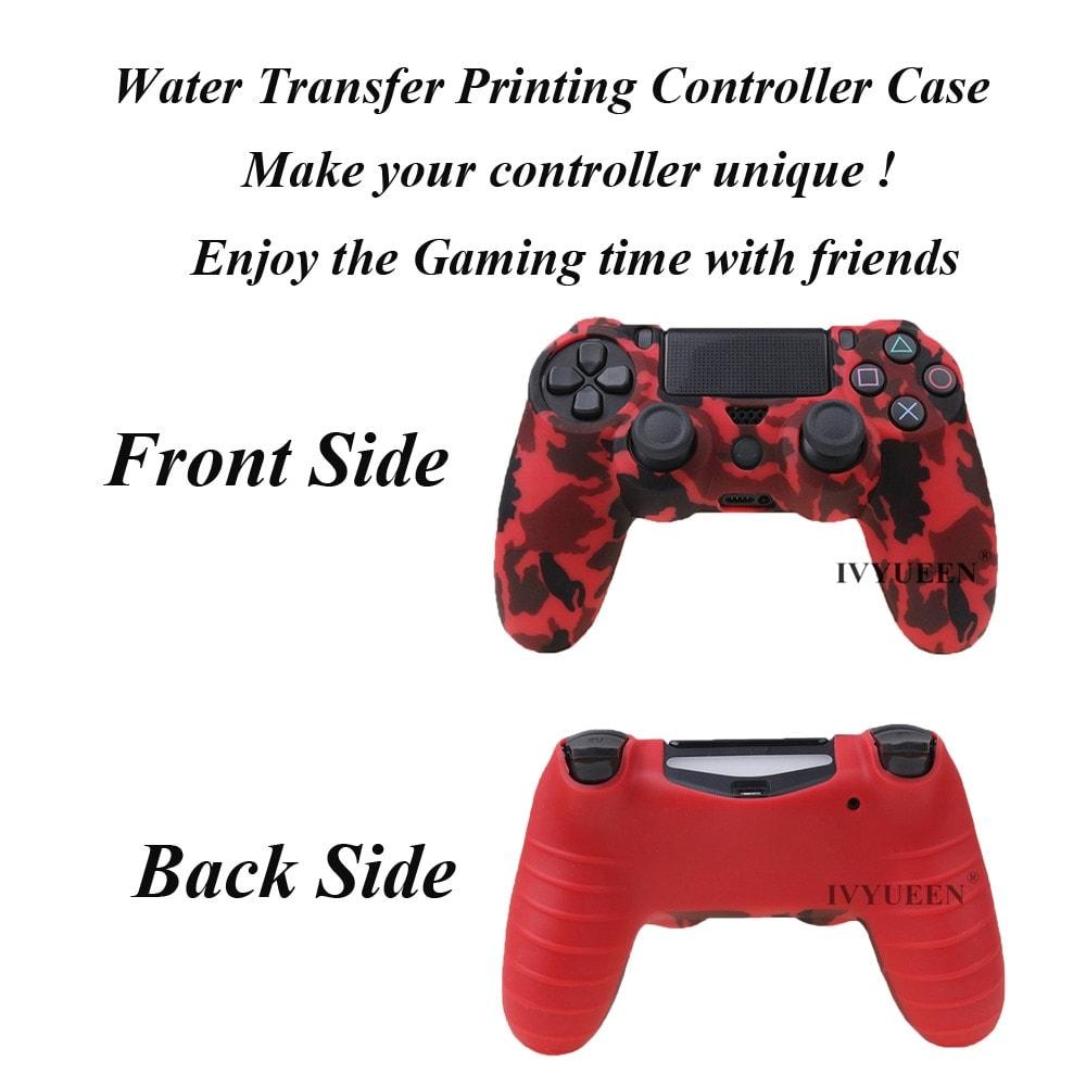 PS4 Controller Silicone Cover plus Thumb Grip Caps - Art Splash - 3