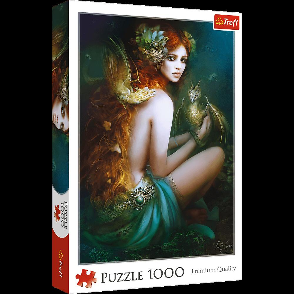 Puzzle - Przyjaciółka Smoków - 1000 el. Multi-Colored - 1