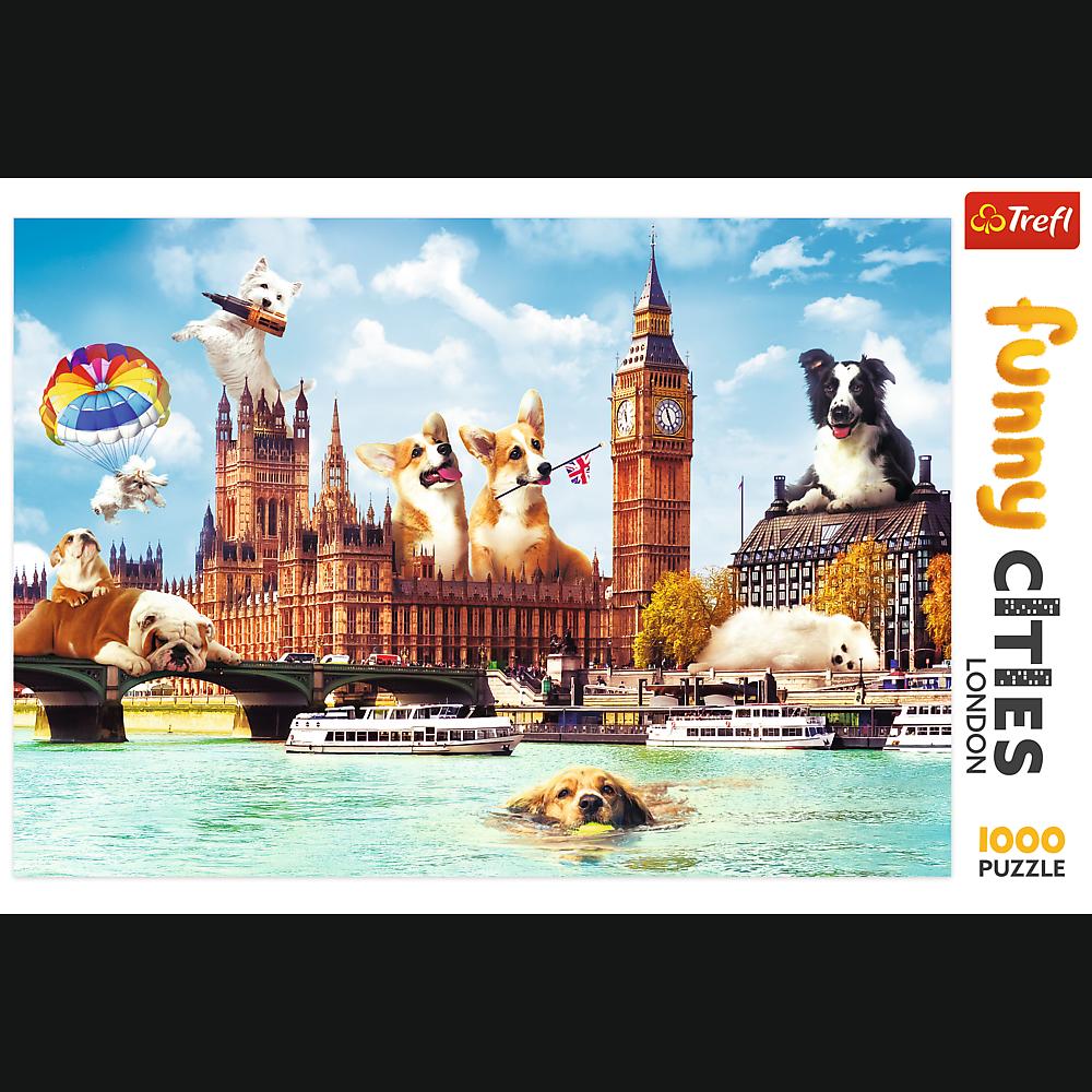 Puzzle - Psy w Londynie - 1000 el. Multi-Colored - 2