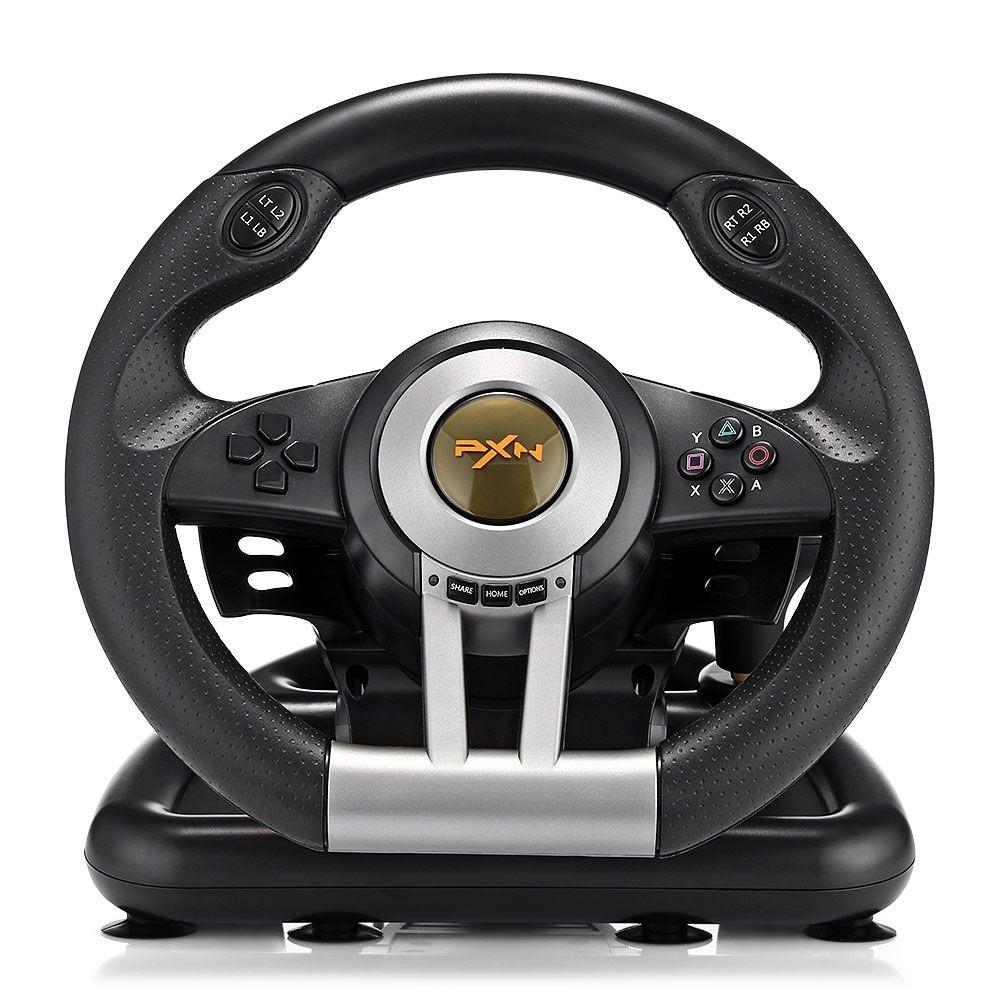 PXN V3II Racing Game Steering Wheel with Brake Pedal - 2