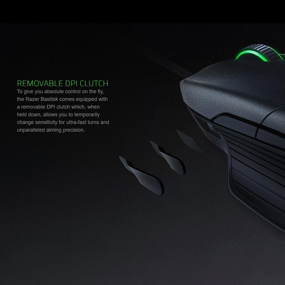 Razer Basilisk Wired Mouse Optical Sensor DPI 8 Buttons Black - 6