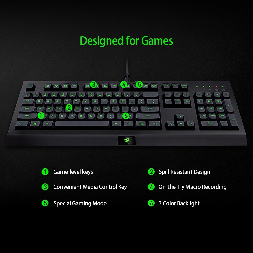Razer Cynosa Pro Keyboard and Razer DeathAdder 2000 Mouse Combo Gaming Set 3 Black - 6