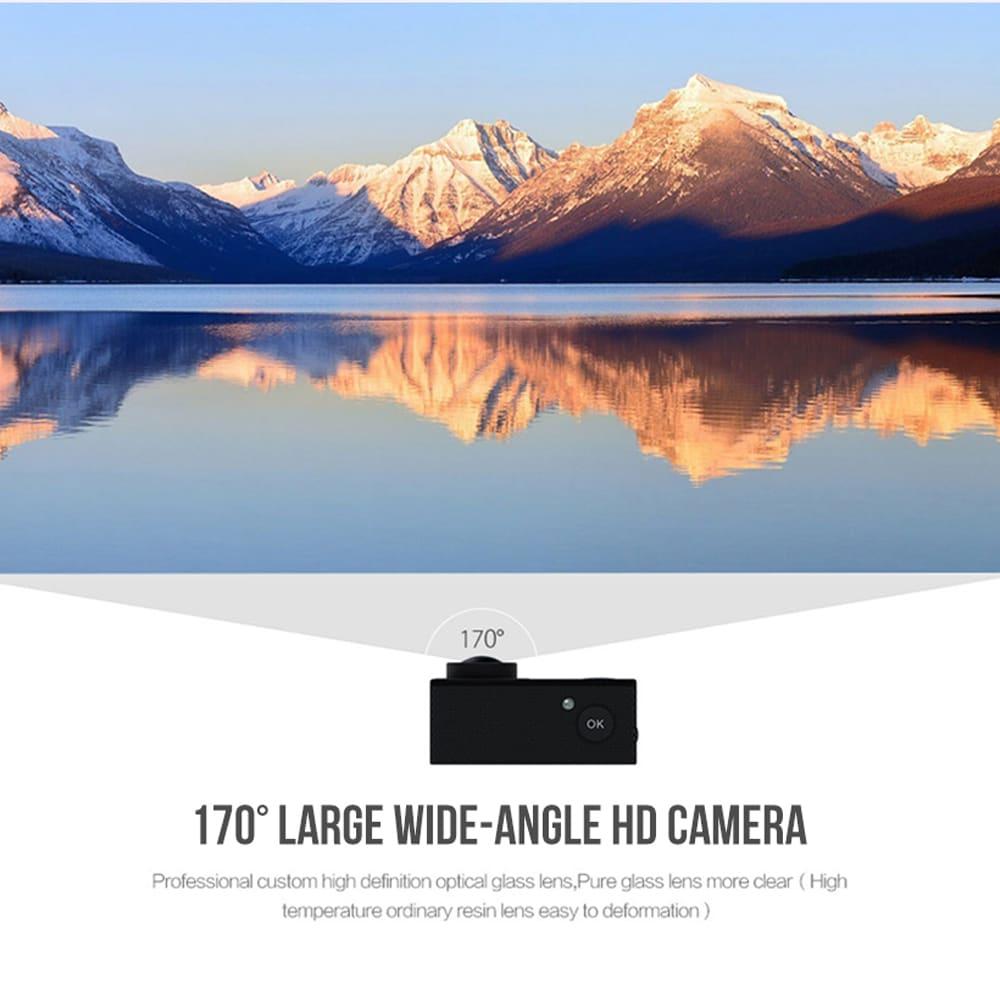 SJ8000 2.0 Inch Sport Action Camera - HD 4K 1080P, Wifi, DV 170 Degree Wide Angle Lens, 30M Waterproof, Remote Blue - 7