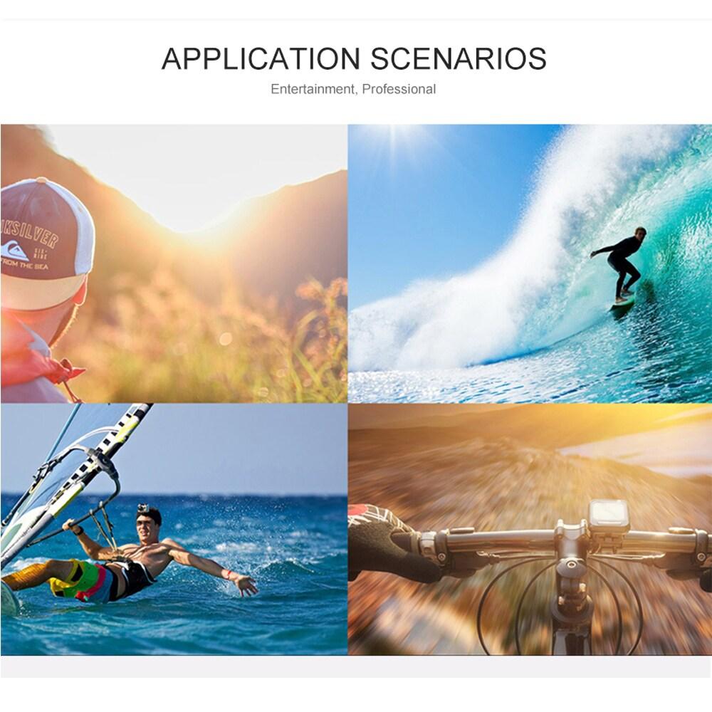 SJ8000 2.0 Inch Sport Action Camera - HD 4K 1080P, Wifi, DV 170 Degree Wide Angle Lens, 30M Waterproof, Remote Blue - 8