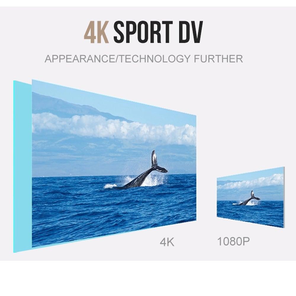 SJ8000 2.0 Inch Sport Action Camera - HD 4K 1080P, Wifi, DV 170 Degree Wide Angle Lens, 30M Waterproof, Remote Blue - 10