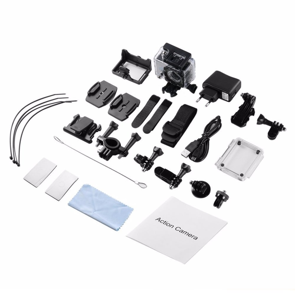 SJ8000 2.0 Inch Sport Action Camera - HD 4K 1080P, Wifi, DV 170 Degree Wide Angle Lens, 30M Waterproof, Remote Yellow - 5