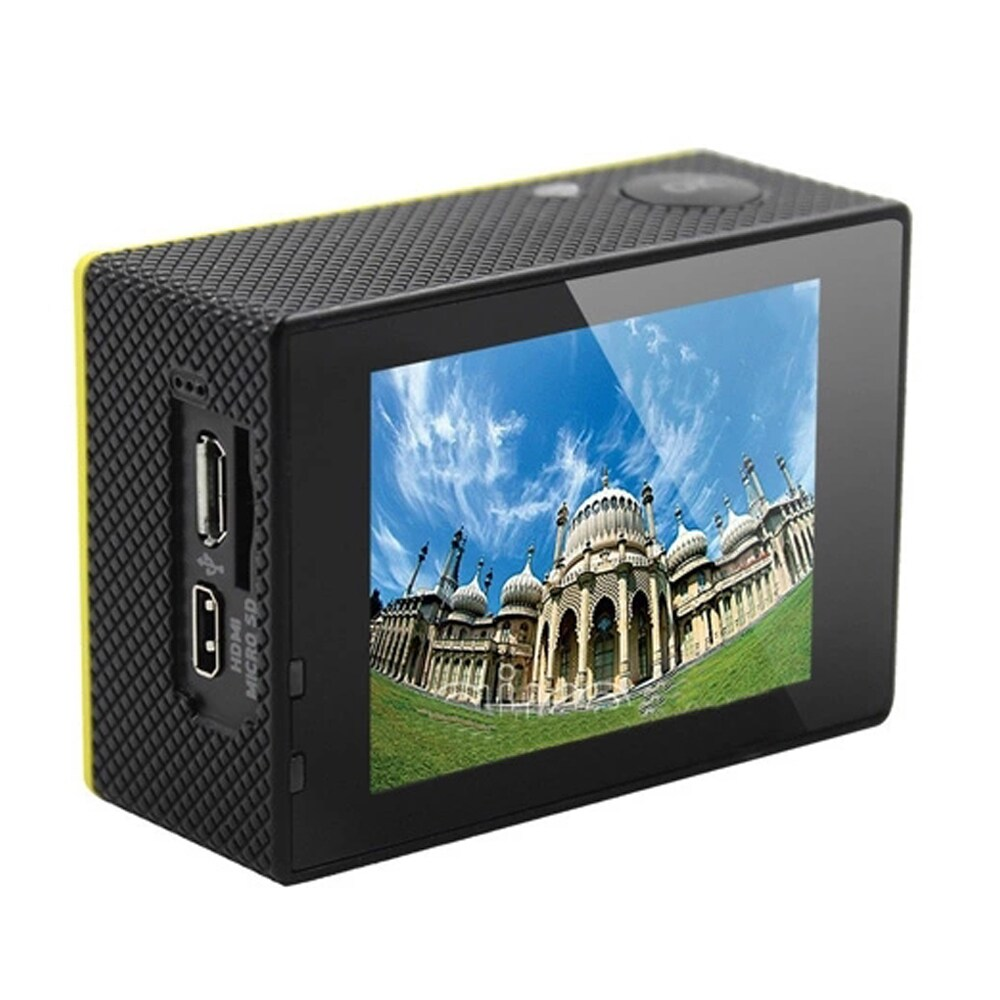 SJ8000 2.0 Inch Sport Action Camera - HD 4K 1080P, Wifi, DV 170 Degree Wide Angle Lens, 30M Waterproof, Remote Yellow - 4