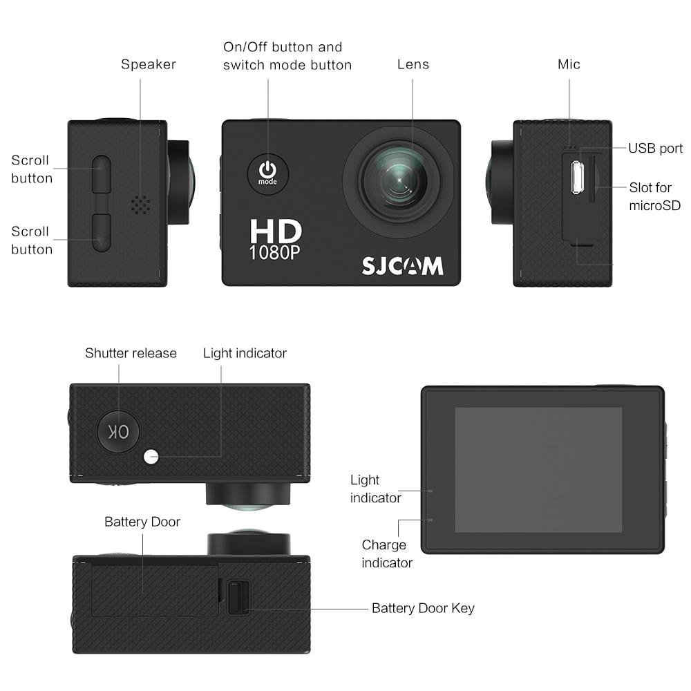 SJCAM SJ4000 12MP Action Camera Underwater Camera Sport Camcorder Golden - 7
