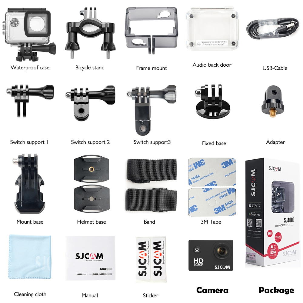 SJCAM SJ4000 12MP Action Camera Underwater Camera Sport Camcorder Red - 8