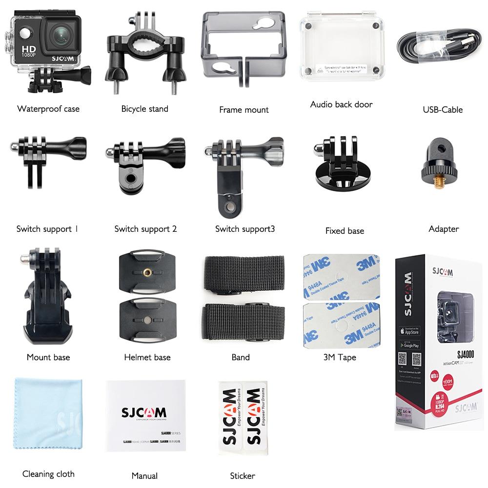 SJCAM SJ4000 WIFI Action Camera FHD1080P waterproof Underwater Camera 12MP Sports Camcorder  White - 9