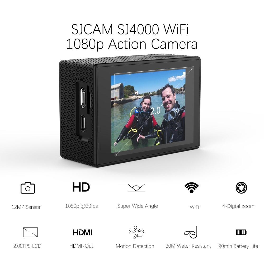 SJCAM SJ4000 WIFI Action Camera FHD1080P waterproof Underwater Camera 12MP Sports Camcorder  White - 5