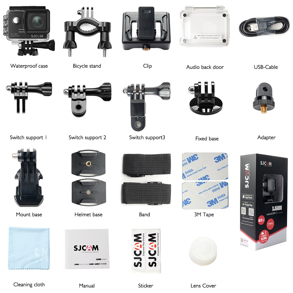 SJCAM SJ5000 WIFI Action Camera 14MP 1080p Ultra HD Waterproof Underwater Camera  Camcorder Black - 6