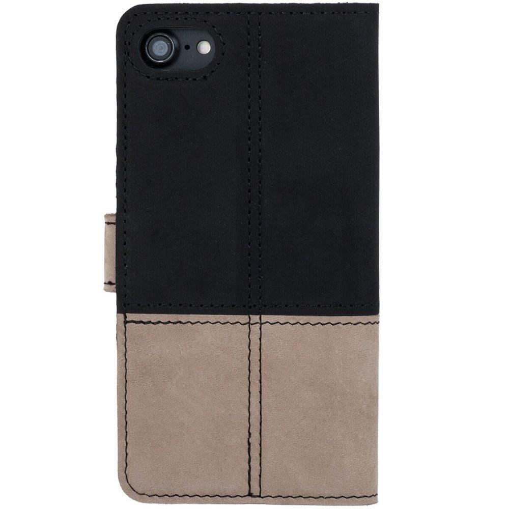 Sony Xperia 10- Surazo® Phone Case Genuine Leather- Black and Beige - 3