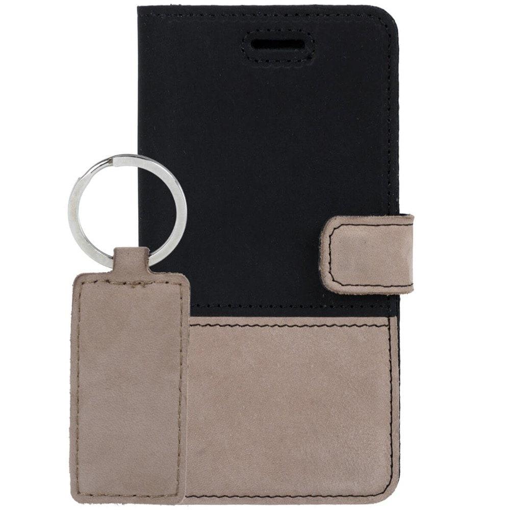 Sony Xperia 10- Surazo® Phone Case Genuine Leather- Black and Beige - 8