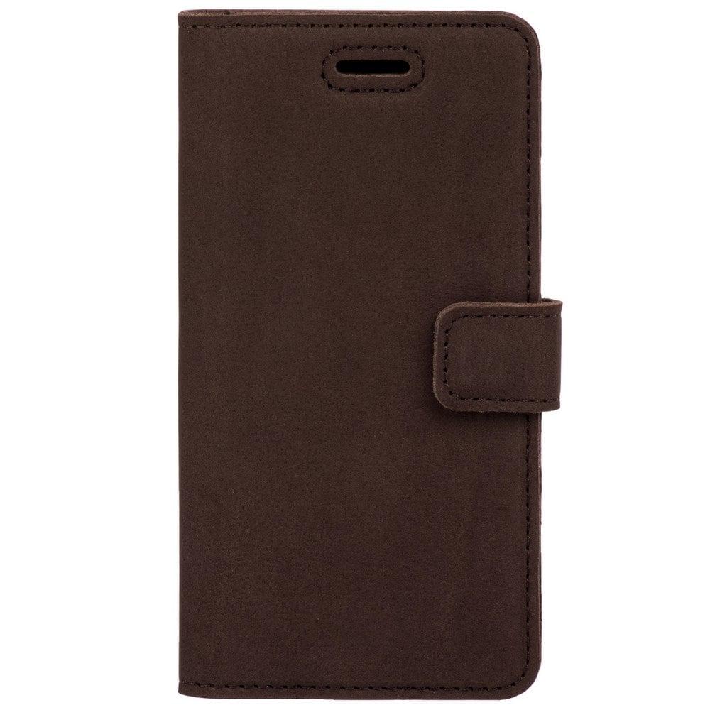 Sony Xperia XZ2 Compact- Surazo® Phone Case Genuine Leather- Nubuck Brown - 1