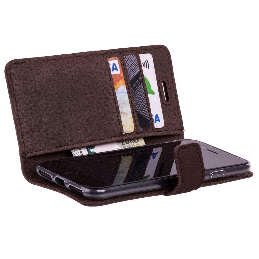 Sony Xperia XZ2 Compact- Surazo® Phone Case Genuine Leather- Nubuck Brown - 2