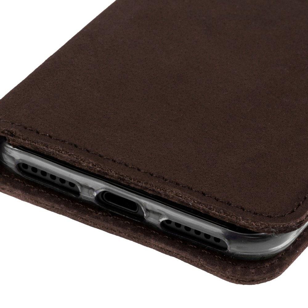 Sony Xperia XZ2 Compact- Surazo® Phone Case Genuine Leather- Nubuck Brown - 5