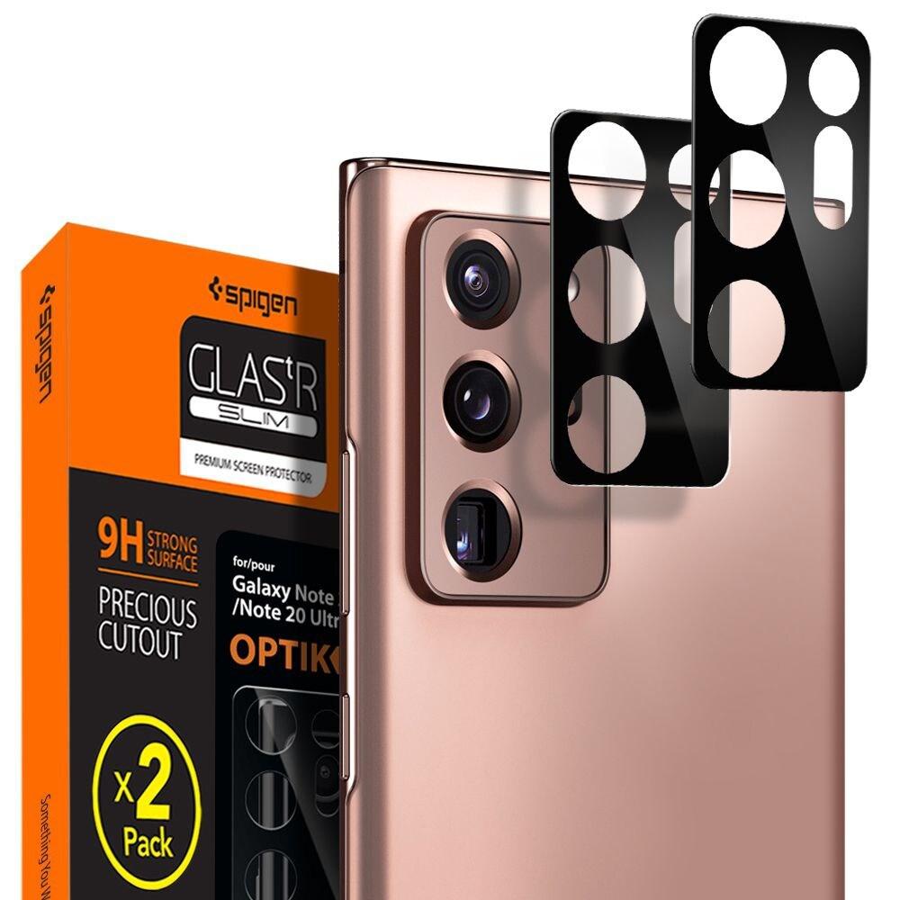 Szkło hartowane na aparat Spigen Full Cover Camera Lens Samsung Galaxy Note 20 Ultra Black - 1