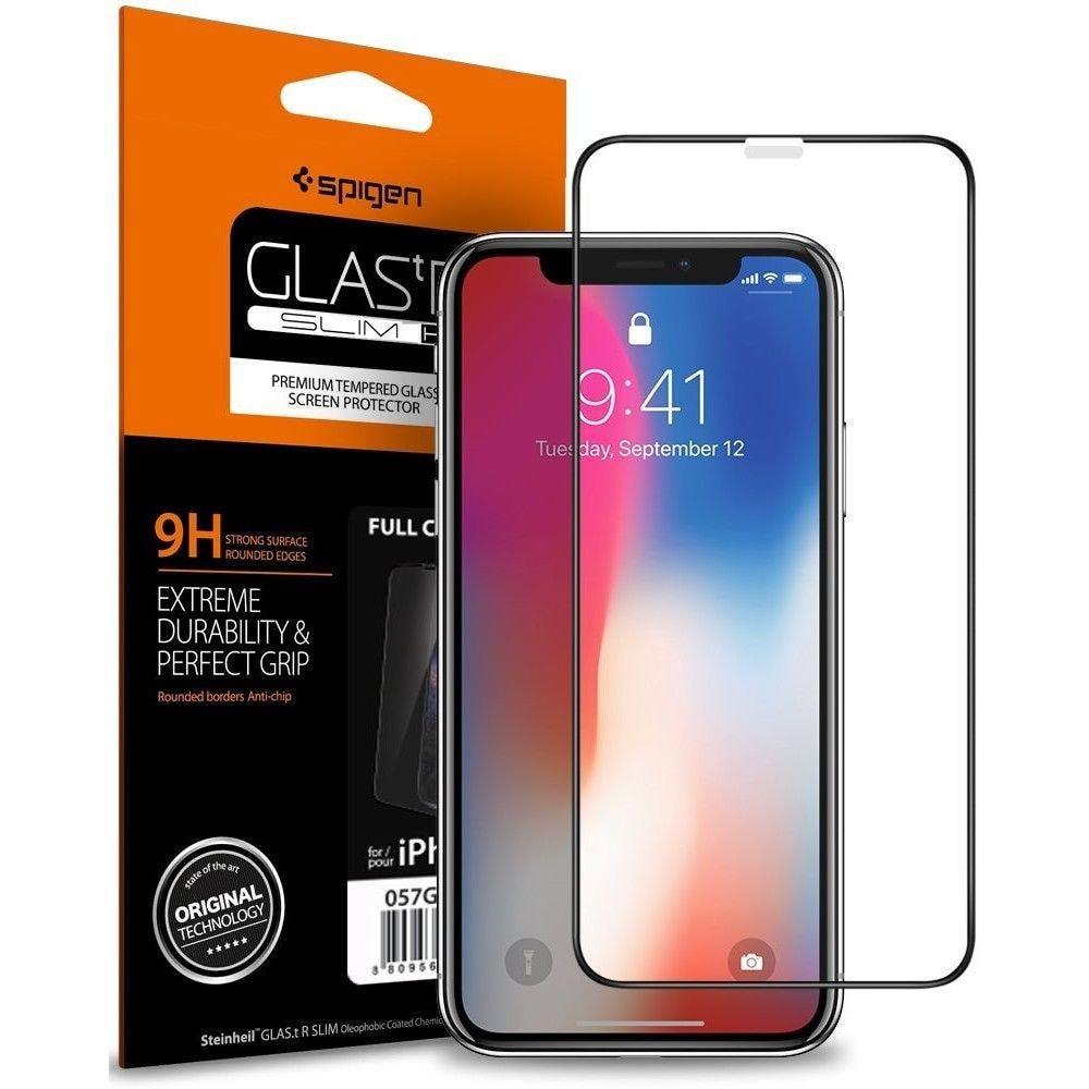 SZKŁO HARTOWANE SPIGEN GLASS FC IPHONE X/XS BLACK - 1