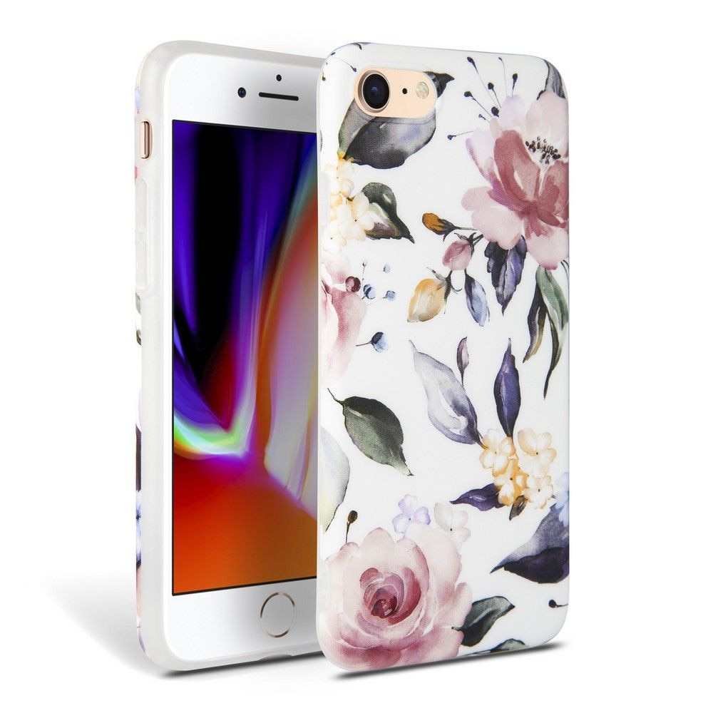 TECH-PROTECT FLORAL IPHONE 7/8/SE 2020 WHITE - 1