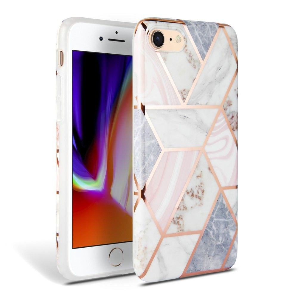 TECH-PROTECT MARBLE IPHONE 7/8/SE 2020 PINK - 1