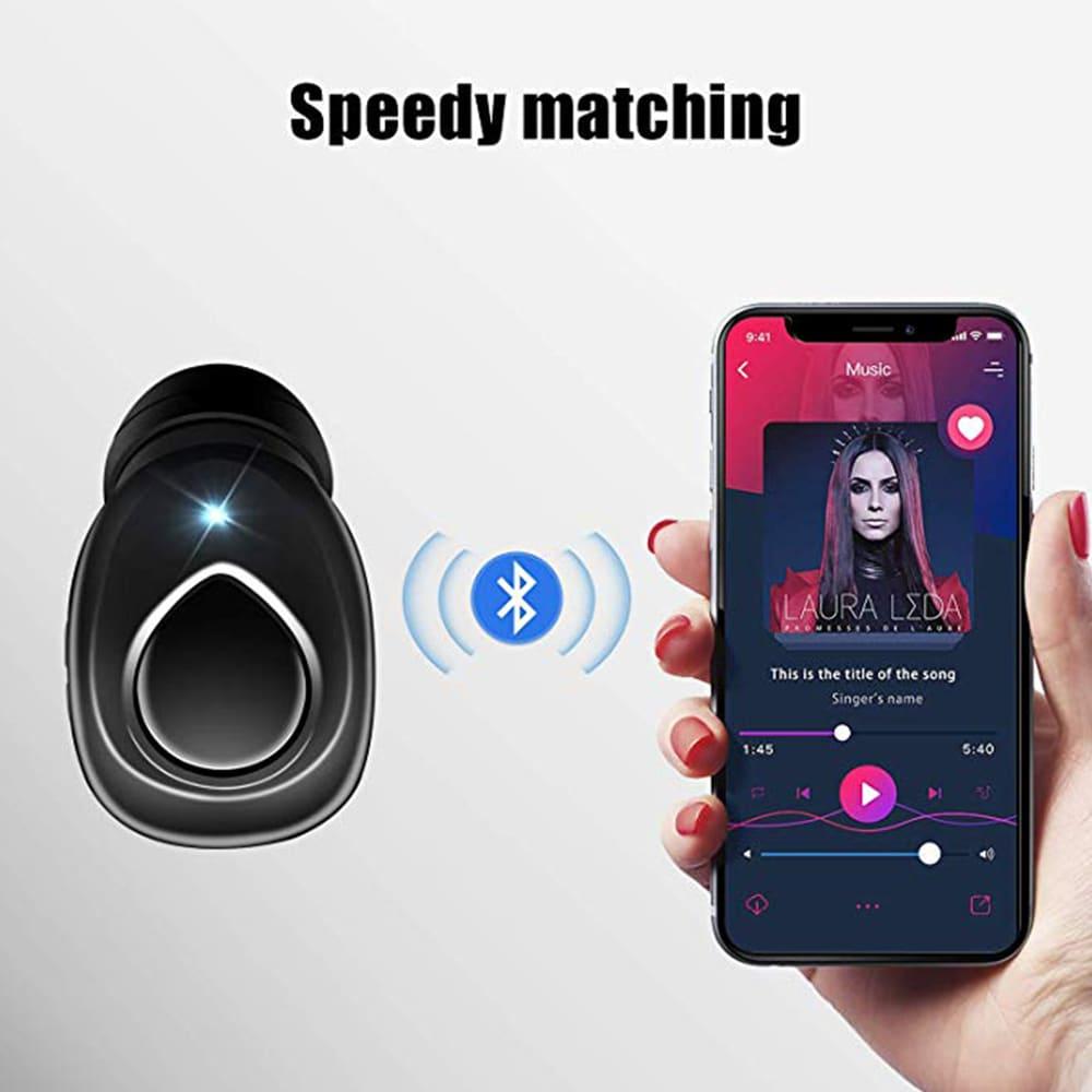 TWS X18s Wireless Headset - Bluetooth Stereo Sound Earphones Sweatproof Headphones Build-in Mic Earbuds Black N/A - 4