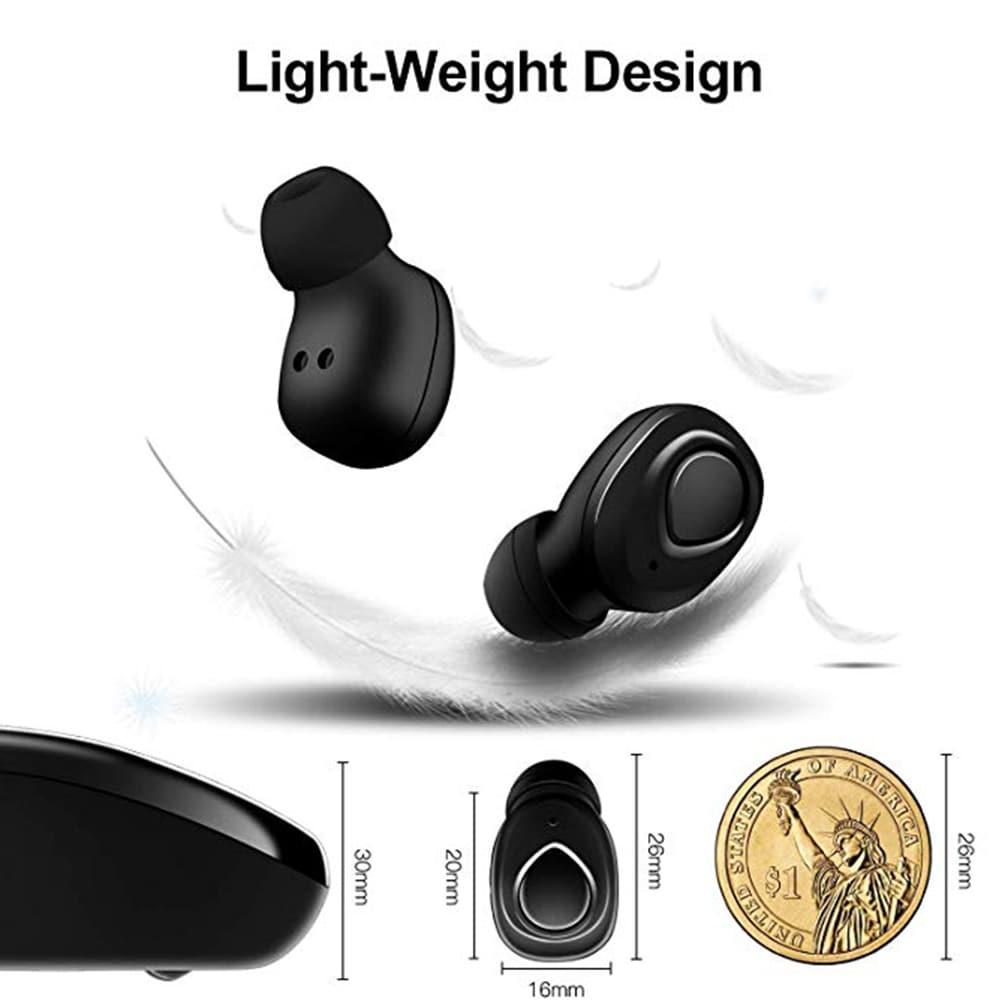 TWS X18s Wireless Headset - Bluetooth Stereo Sound Earphones Sweatproof Headphones Build-in Mic Earbuds Black N/A - 9