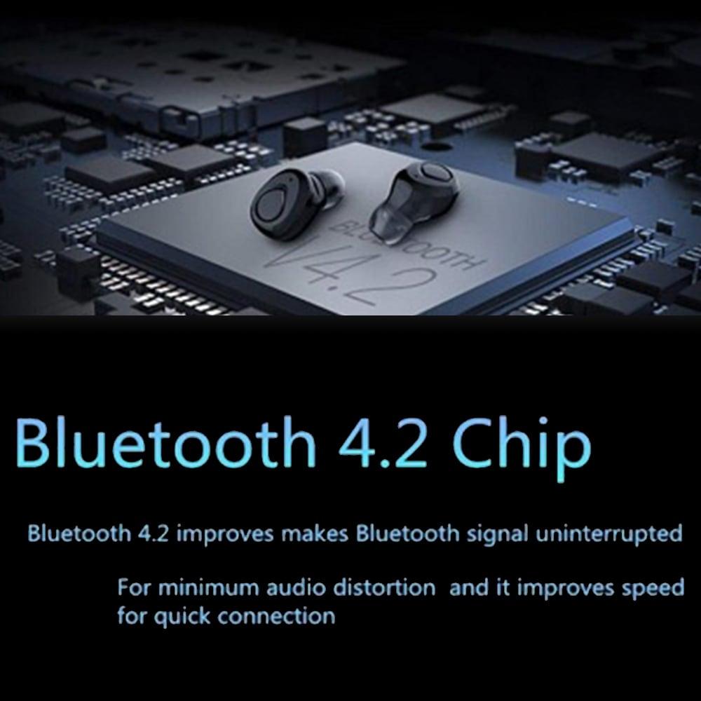 TWS X18s Wireless Headset - Bluetooth Stereo Sound Earphones Sweatproof Headphones Build-in Mic Earbuds Black N/A - 8