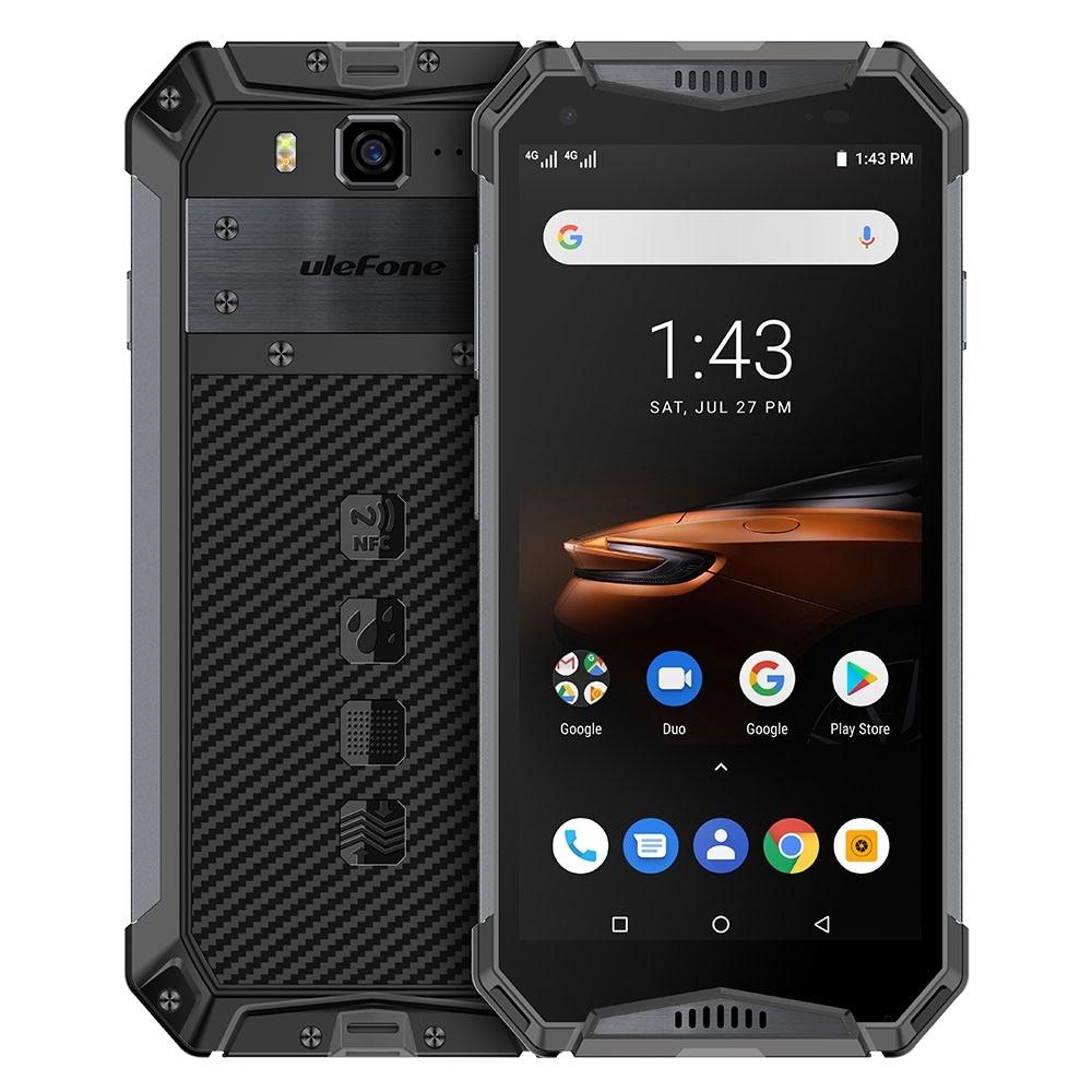 Ulefone Armor 3W Rugged Phone Dual 4G 6GB+64GB (Black) - 1