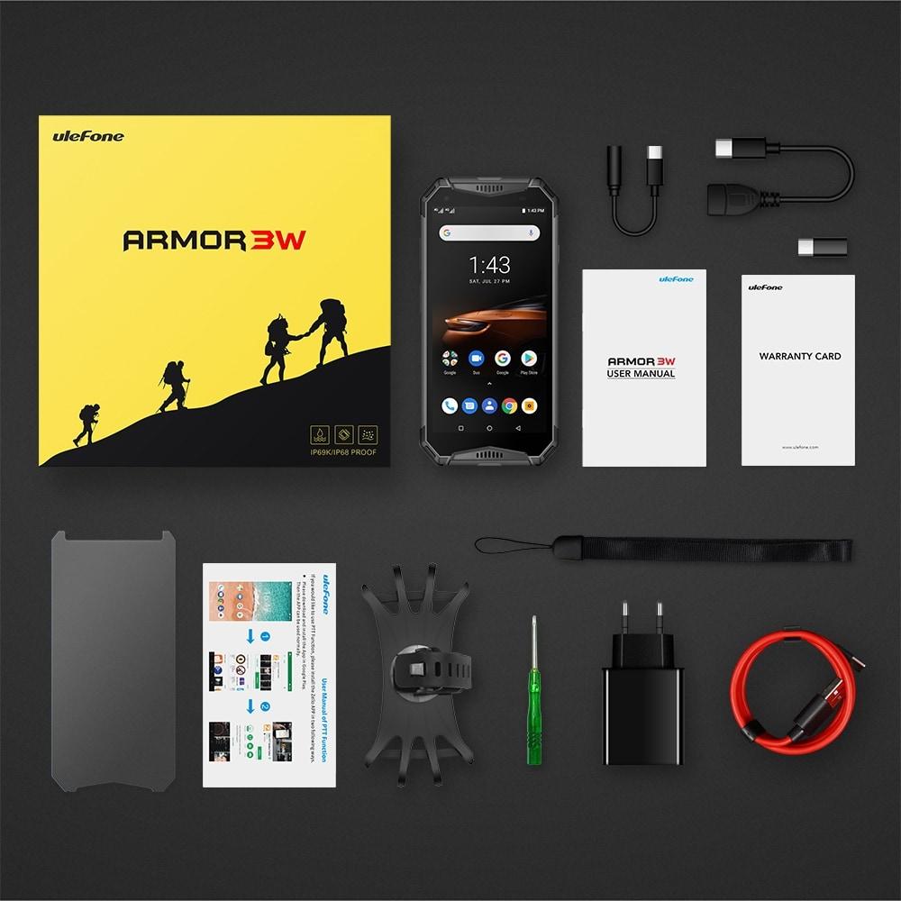 Ulefone Armor 3W Rugged Phone Dual 4G 6GB+64GB (Black) - 2
