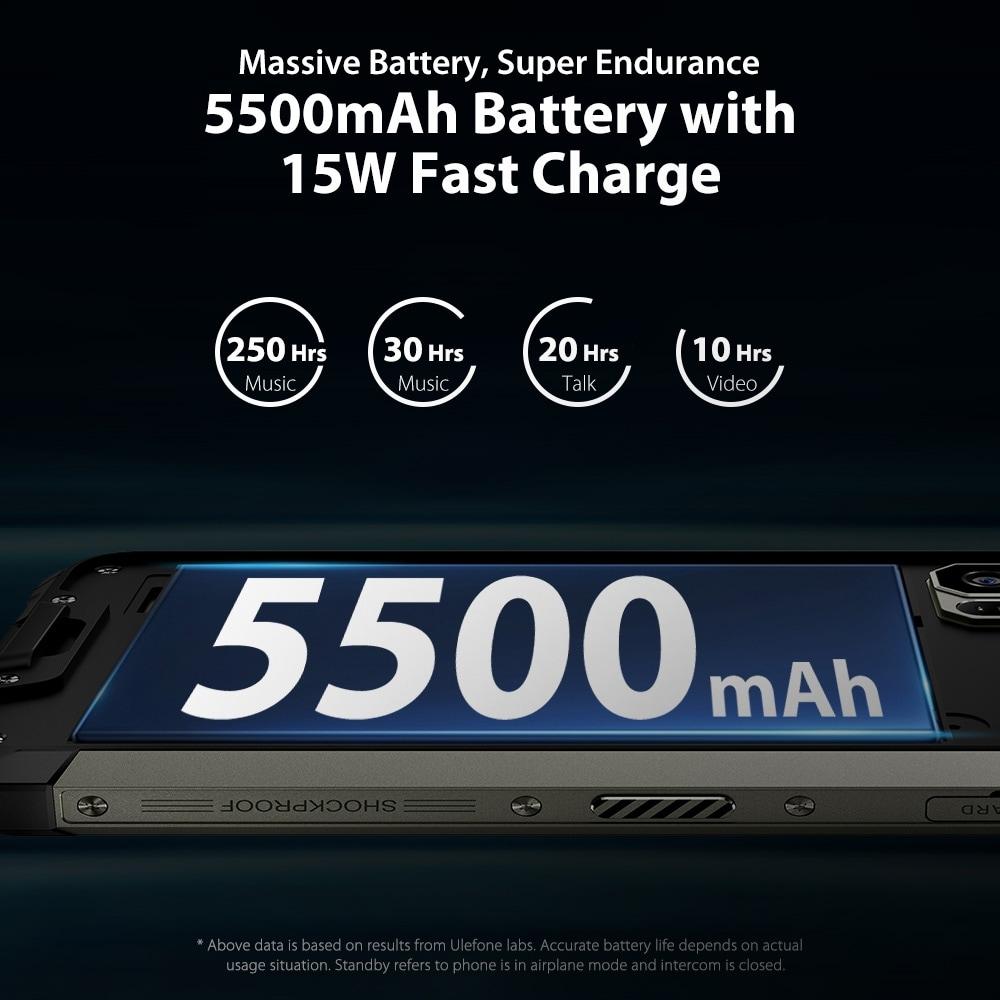 Ulefone Armor 7 Rugged Phone 48MP Camera 8GB+128GB (Black) - 7