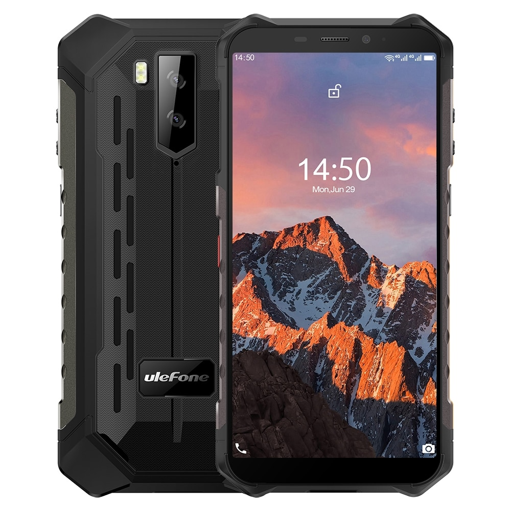 Ulefone Armor X5 Pro Rugged Phone 4GB+64GB (Black) - 1