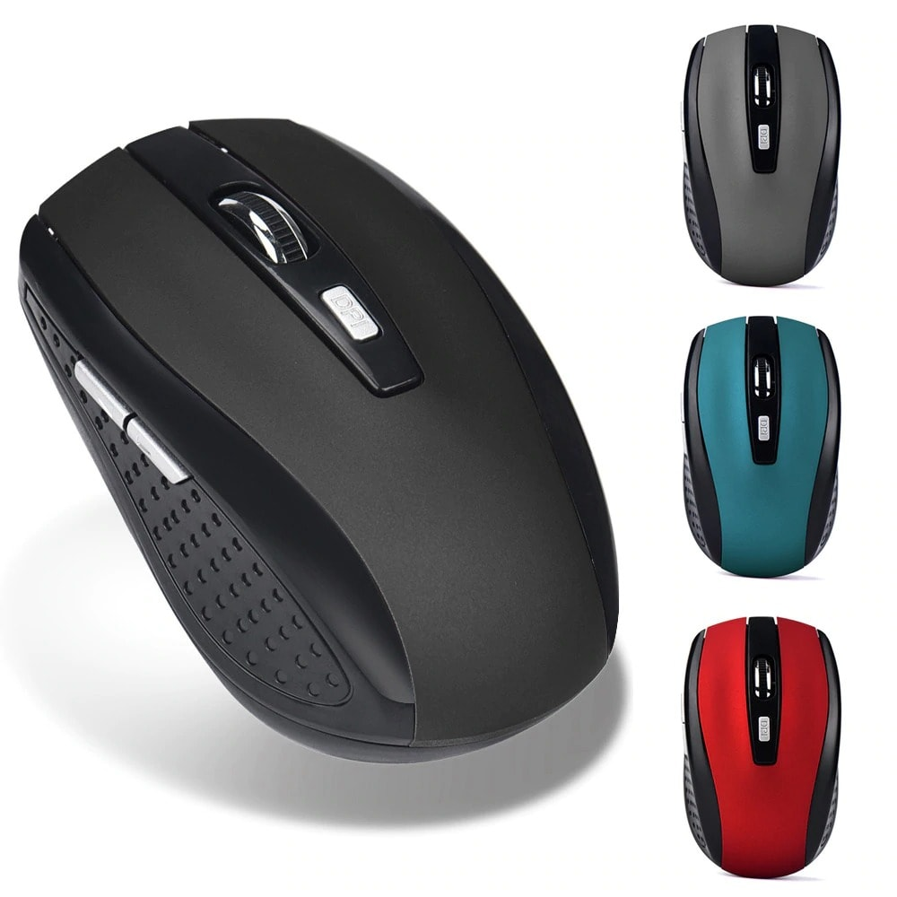 Wireless Silent Mouse Receiver Pro Gamer Portable Ergonomic 2.4GHz  Red - 1