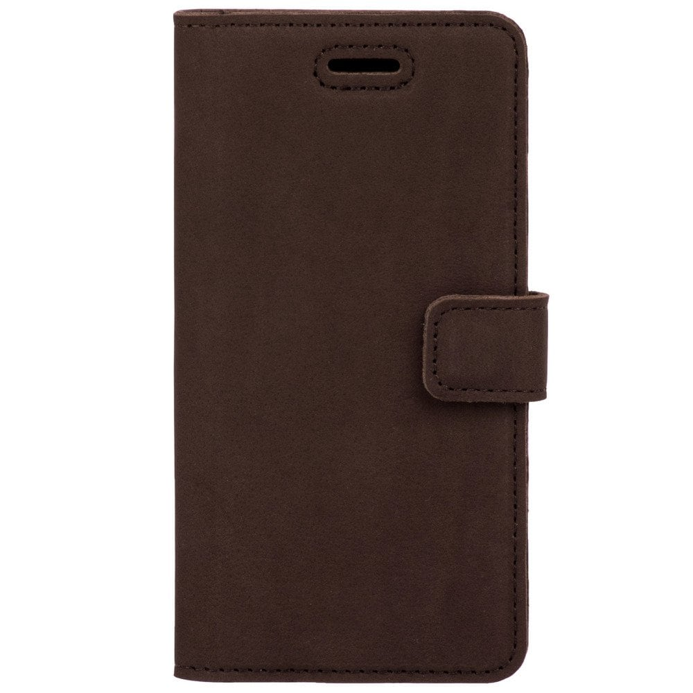 Xiaomi Redmi 6A- Surazo® Phone Case Genuine Leather- Nubuck Brown - 1
