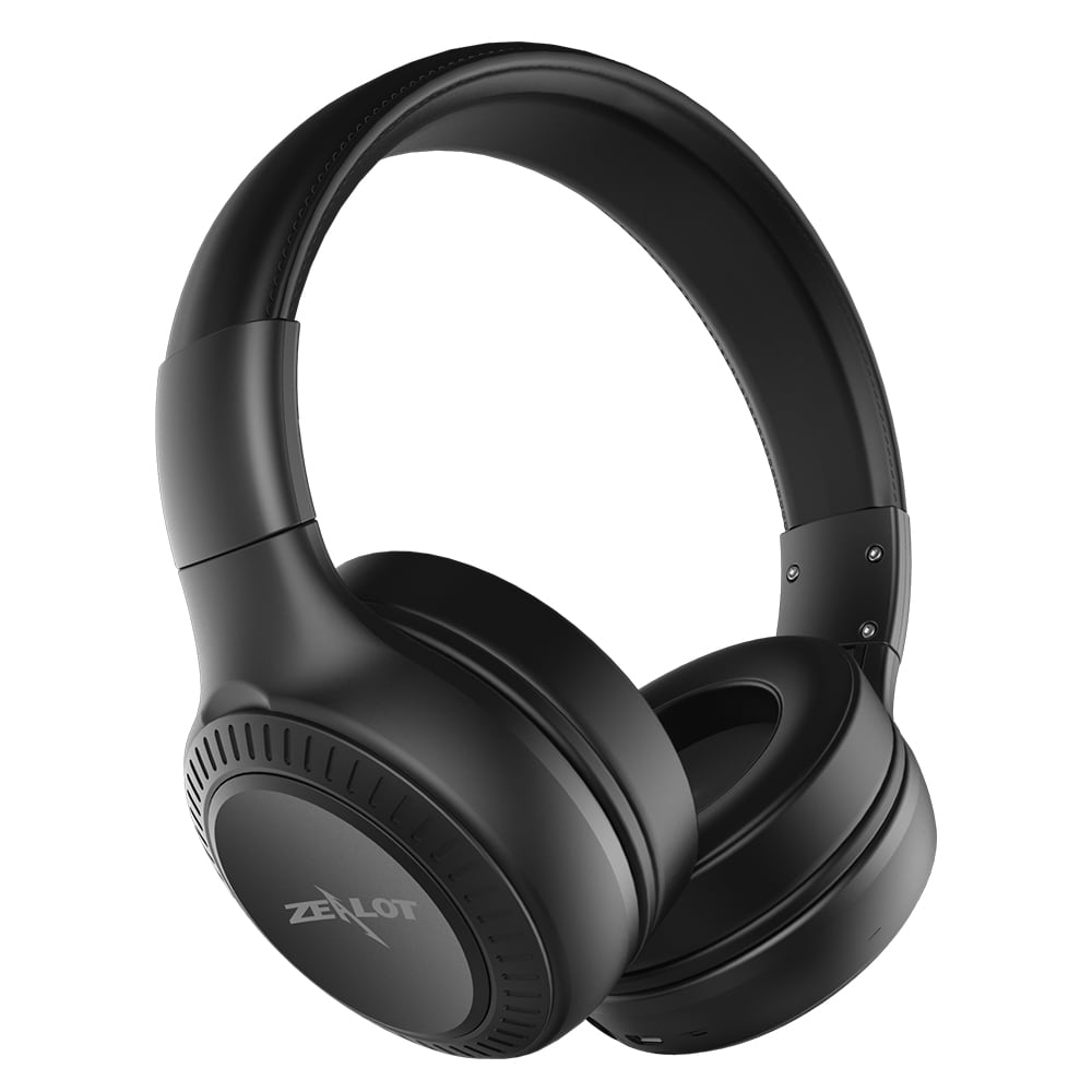 ZEALOT B20 Bluetooth Headset with HD Sound Bass Stereo Over Ear Wireless Headphone with Mic for Smartphones Black N/A - 5