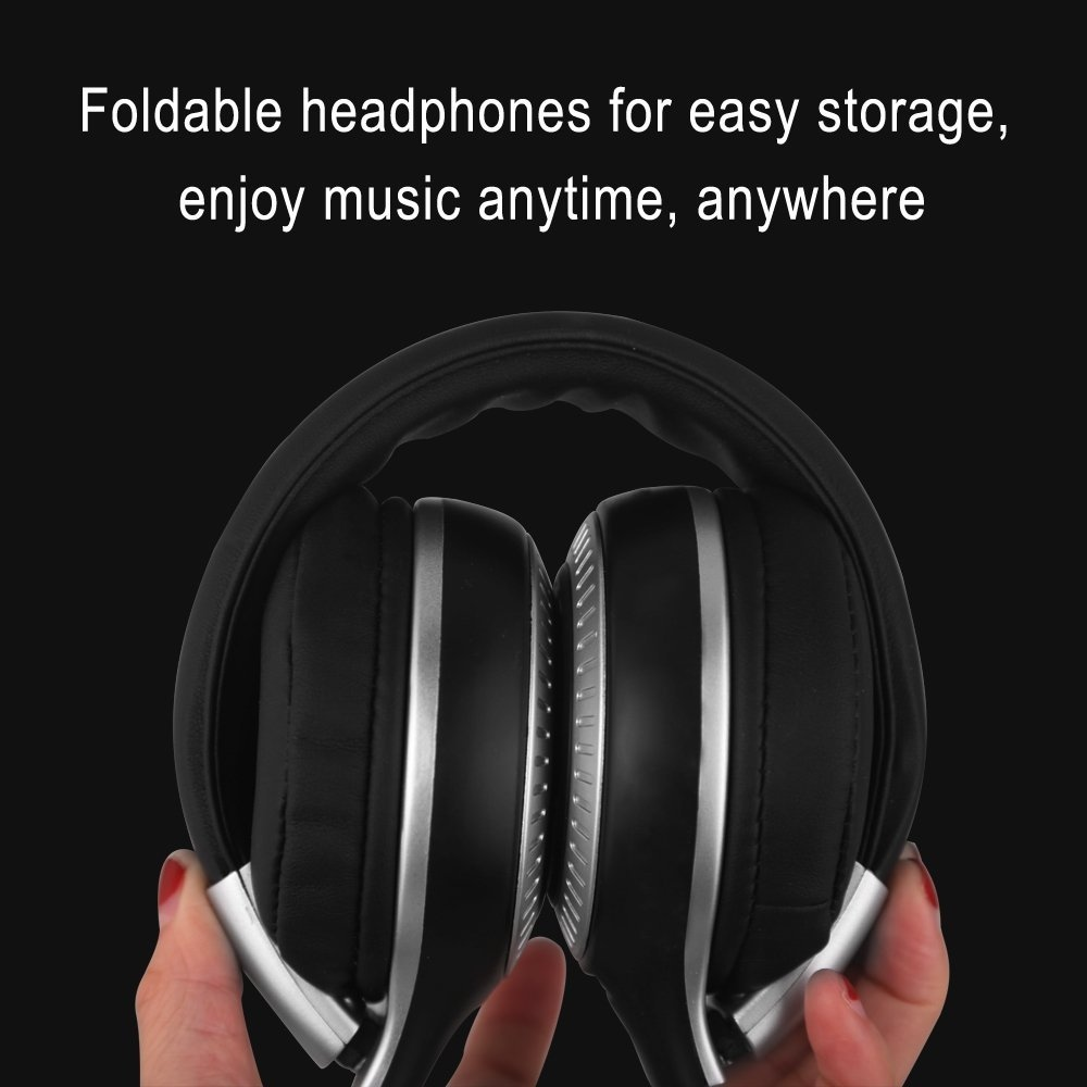 ZEALOT B20 Bluetooth Headset with HD Sound Bass Stereo Over Ear Wireless Headphone with Mic for Smartphones Black N/A - 8
