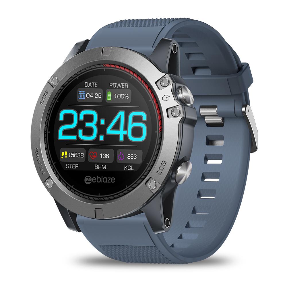 Zeblaze VIBE3 ECG Smart Watch Men Sport Waterproof Electrocardiogram Sleep Monitoring Fitness Tracker Blue CHINA - 2