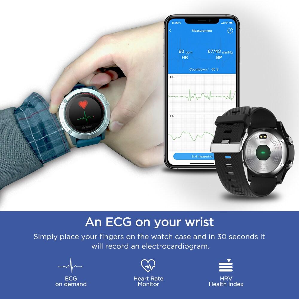 Zeblaze VIBE3 ECG Smart Watch Men Sport Waterproof Electrocardiogram Sleep Monitoring Fitness Tracker Blue CHINA - 12