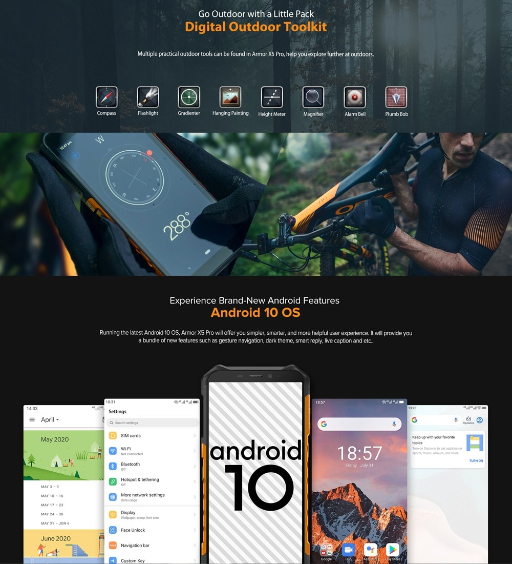 Ulefone Armor X5 Pro Rugged Phone 4GB+64GB (Black) - 4