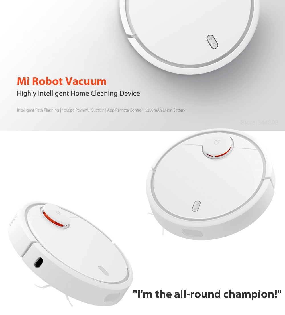 Xiaomi MIJIA 1C Robot Vacuum Cleaner for Home with Cleaning Tools - 10