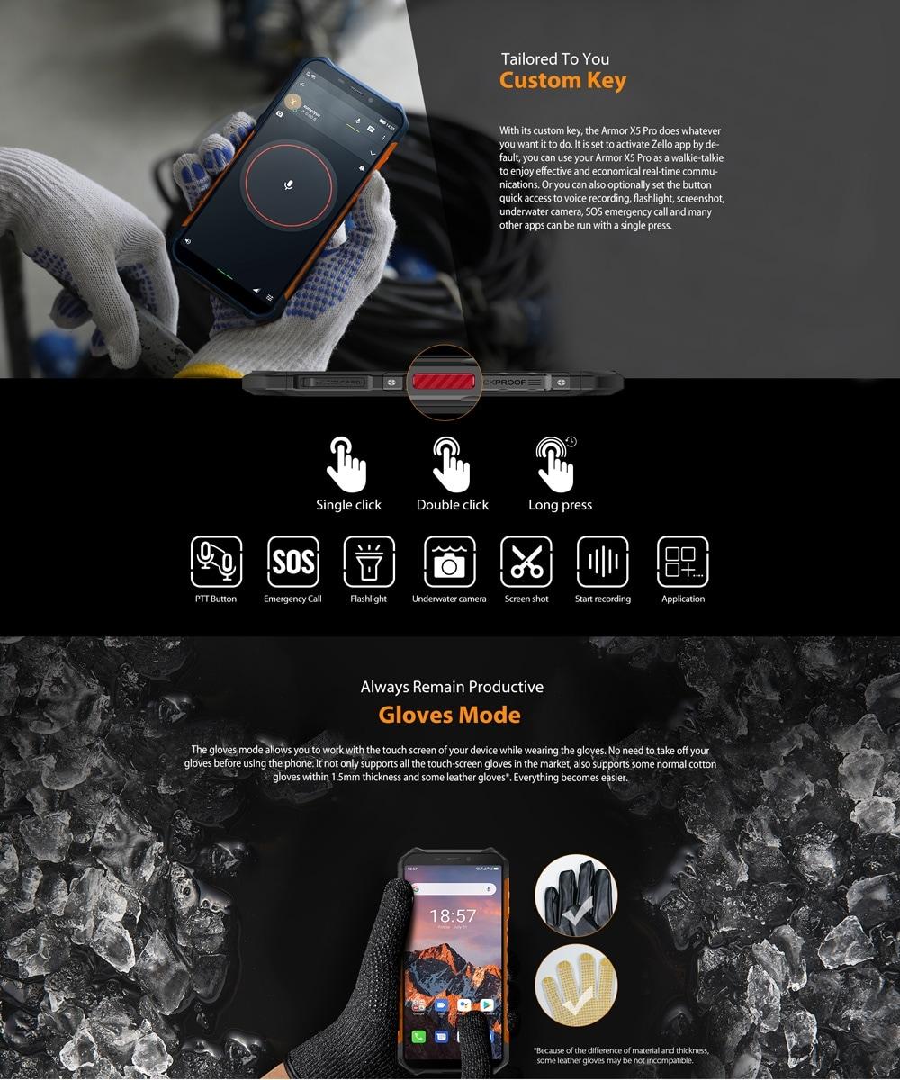 Ulefone Armor X5 Pro Rugged Phone 4GB+64GB (Black) - 5