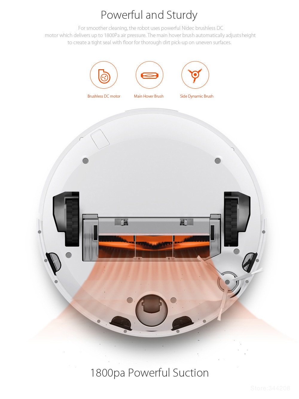Xiaomi MIJIA 1C Robot Vacuum Cleaner for Home with Cleaning Tools - 11